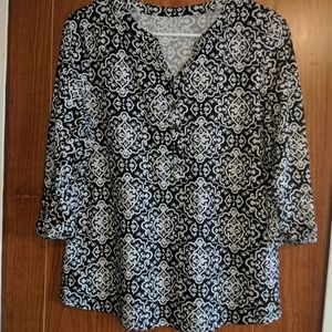 size small Blouse with roll up and snap sleeves